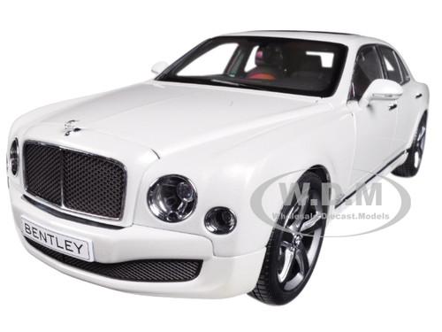 Bentley Mulsanne Speed Ghost White 1/18 Diecast Model Car Kyosho 08910 GHW