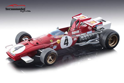 Ferrari 312B Car #4 Clay Regazzoni Winner 1970 Grand Prix Italia Mythos Series Limited Edition 100 pieces Worldwide 1/18 Model Car Tecnomodel TM18-64 A