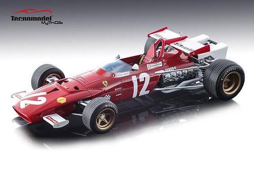 Ferrari 312B Car #12 Jacky Ickx Winner 1970 Grand Prix Austria Mythos Series Limited Edition 100 pieces Worldwide 1/18 Model Car Tecnomodel TM18-64 B