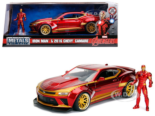 2016 Chevrolet Camaro Iron Man Diecast Figure Marvel ...