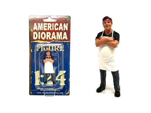 Food Truck Chef Victor Figure for 1/24 Scale Models American Diorama 38441