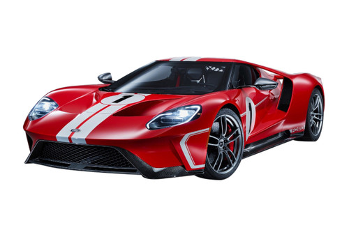 2018 Ford GT #1 Heritage Edition Red White Stripes 1/18 Model Car GT Spirit ACME US008