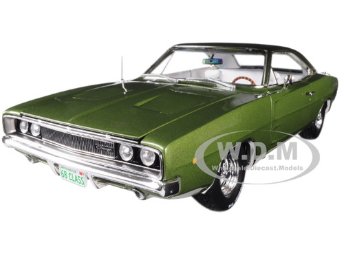 1968 Dodge Charger R/T Medium Green Metallic Class 68 50th Anniversary Limited Edition 1002 pieces Worldwide 1/18 Diecast Model Car Autoworld AMM1140