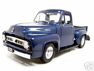 Ford F  Pickup Dark Blue  Cast Model Car Road Signature