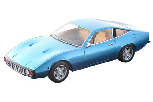 1971 Ferrari 365 GTC/4 Azzurro California Blue Cream Interior Mythos Series Limited Edition 80 pieces Worldwide 1/18 Model Car Tecnomodel TM18-92 C