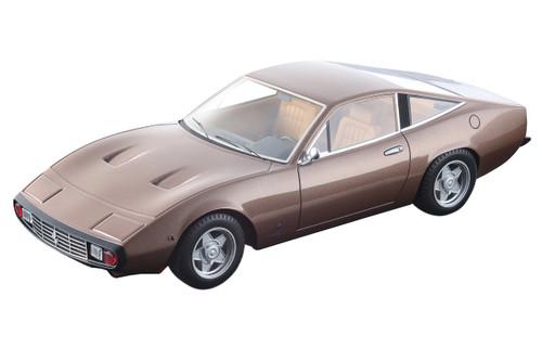 1971 Ferrari 365 GTC/4 Metallic Bronze Beige Interior Mythos Series Limited Edition 80 pieces Worldwide 1/18 Model Car Tecnomodel TM18-92 D