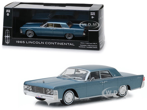 1965 Lincoln Continental Madison Gray Metallic 1/43 Diecast Model Car Greenlight 86329