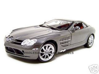 Mercedes Mclaren Slr Grey 1 18 Diecast Model Car Maisto 36653