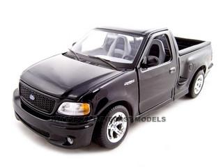 Ford F  Svt Lightning Black Pick Up Truck  Cast Model Maisto