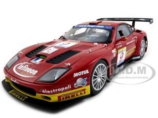 Ferrari 575 GTC Team J.M.B. Estoril 2003 #9 1/18 Diecast Model Car Kyosho 08393