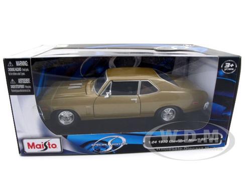 1970 Chevrolet Nova SS Coupe Gold 1:24 Diecast voiture modèle de Maisto 31262