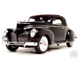 1939 lincoln zephyr black 1 18 diecast model car signature models 18102 1939 Lincoln Zephyr Sedan