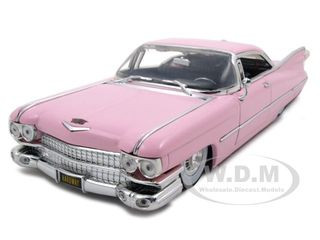 1959 Cadillac Coupe Deville Diecast Car Model 1/24 Pink Die Cast Car 53667 Jada 96801