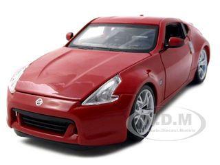 2009 Nissan 370Z Red 1/24 Diecast Model Car Maisto 31200