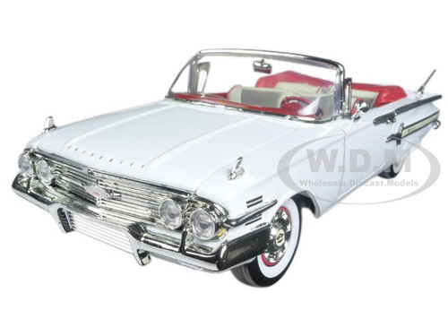 1960 chevrolet impala convertible white 1 18 diecast model. Black Bedroom Furniture Sets. Home Design Ideas