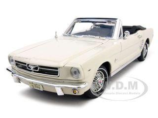 1964 1/2 Ford Mustang Convertible Cream 1/18 Diecast Car Model Motormax 73145