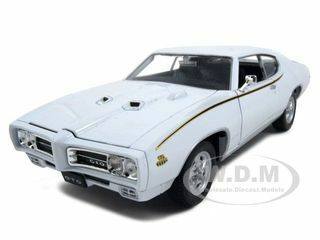 1969 Pontiac Gto Azul Diecast Modelo-Welly