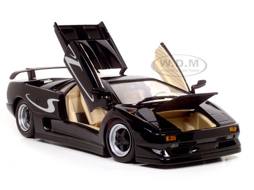 lamborghini diablo sv black 1 18 diecast model car maisto 31844. Black Bedroom Furniture Sets. Home Design Ideas