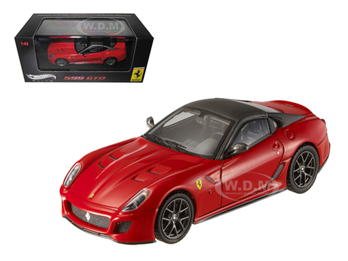 Ferrari 599 GTO Red With Grey Roof Elite Edition 1/43 Diecast Car Model Hotwheels T6267