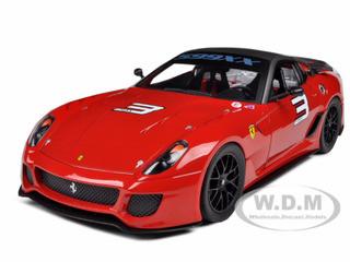 Ferrari 599XX #3 Red Mass Version 1/18 Diecast Model Car Hotwheels V7432