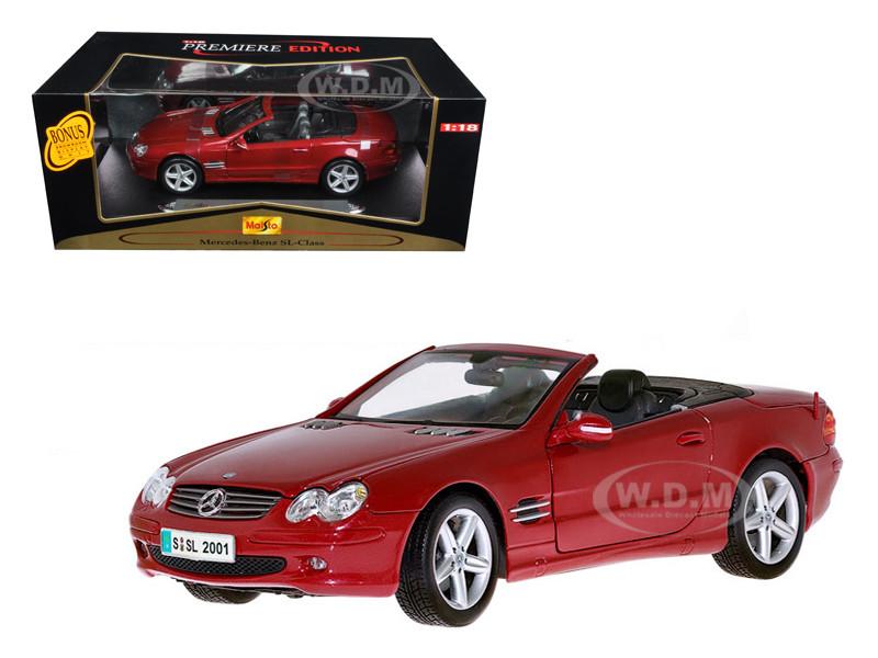 mercedes benz sl class convertible dark red 1 18 diecast model car maisto 36623. Black Bedroom Furniture Sets. Home Design Ideas