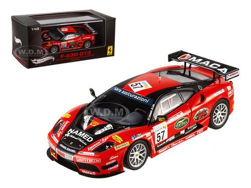 Ferrari F430 GT3 #57 Italian GT3 2009 Championship Winner Elite Edition 1/43 Diecast Model Car Hotwheels W1776