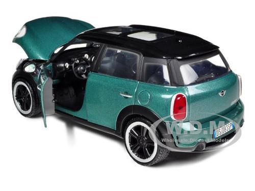 Mini Cooper S Countryman Suv Grün mit Schwarzem Dach Ab 2010 1//24 Motormax Mod..