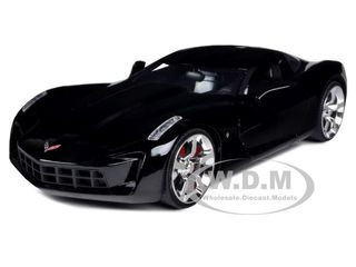 2009 Chevrolet Corvette Stingray Concept Black 1 24 Diecast Car