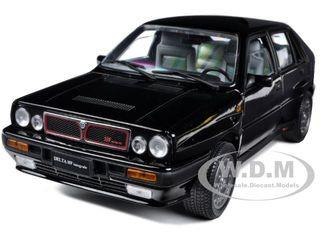 1990 lancia delta hf integrale 8v black 1/18 diecast model car