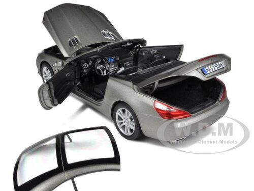 2012 MERCEDES SL CLASS SL 500 MATT GREY 1//18 DIECAST MODEL CAR BY NOREV 183590