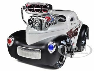 "1941 Willys Coupe Metallic White ""Muscle Machines"" 1/24 Diecast Model Car Maisto 32237"