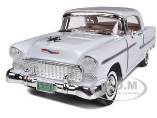 1955 CHEVROLET BEL AIR HARD TOP GREEN 1//18 DIECAST MODEL CAR BY MOTORMAX 73185