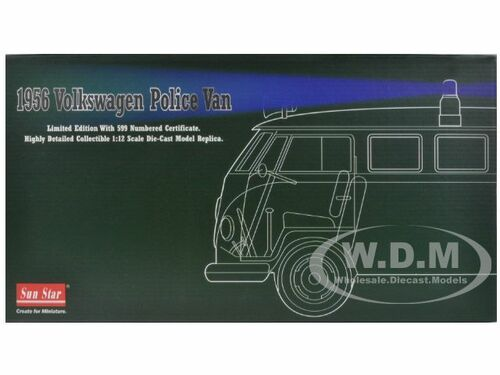1956 VOLKSWAGEN POLICE VAN GREEN 1//12 LTD TO 599PC WORLDWIDE BY SUNSTAR 5082