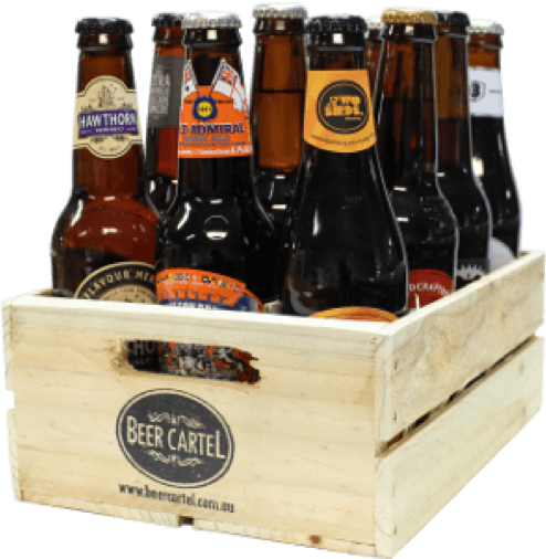 Australian Craft Beer 12 Pack w/ Wooden Beer Crate