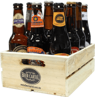 Australian Craft Beer 12 Pack with Wooden Beer Crate