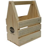Wooden Beer Six Pack Caddy