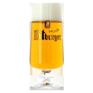 Bitburger Footed Pilsner Beer Glass