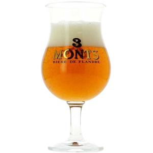 3 Monts (Trois Monts) Tulip Beer Glass