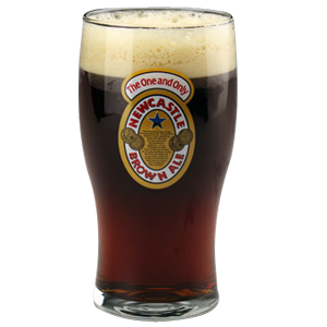 Newcastle Brown Ale Pint Beer Glass