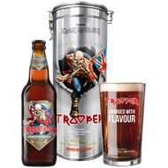 Robinsons Iron Maiden Trooper Gift Tin + Glass