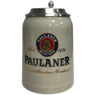 Paulaner 500ml Ceramic Mug with Lid