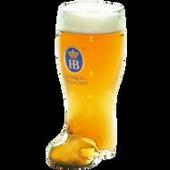 Hofbrau German Beer Boot Glass 1 Litre