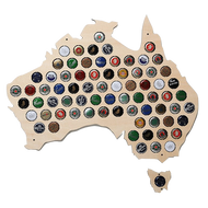 Beer Bottle Cap Map of Australia