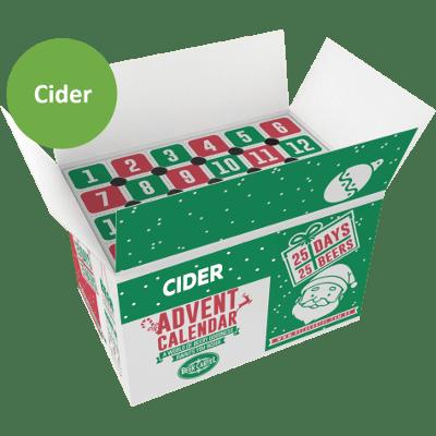 Cider Advent Calendar Top Open Box