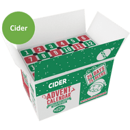 Cider Advent Calendar Top Open Box