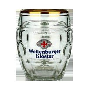 Weltenburger Glass Beer Mug