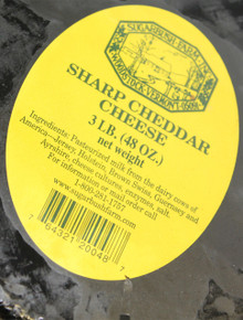 Sharp Cheddar Cheese - Three-Pound Wheel