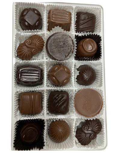 Assorted Boxed Chocolates - Soft Centers - 15 Pieces