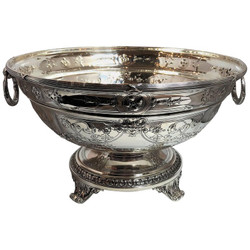 Antique Sterling Silver American Gorham Punch Bowl Centerpiece, Circa 1890-1900.