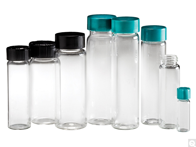 22mL Clear Screw Thread Sample Vials (144/case)